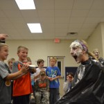 """You mean we can really put a pie in Mrs. Hollan's face? "" ""OKAY!"""