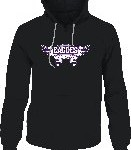 Black hoodie with wings design.  Also available in purple.